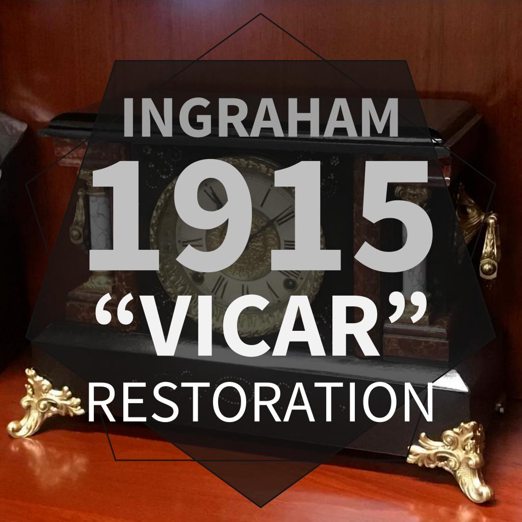 "Ingraham 1915 ""Vicar"" Black Mantel Clock Restoration"